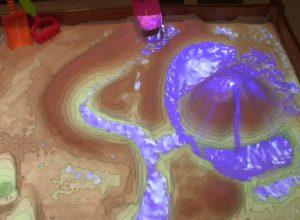 Caja de arema con simulación de augua en tiempo real